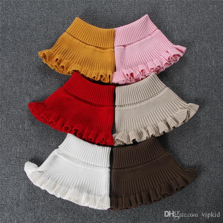 Winter Neckerchief Children's Cotton Muffler Baby bib Warm Soft Boys/Girls Scarves Girls Knitted Scarf