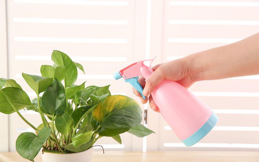 حلوى الألوان البلاستيك رذاذ الماء الزناد رذاذ زجاجة ضربة يمكن تنظيف البستنة النبات زهرة بخاخ المياه