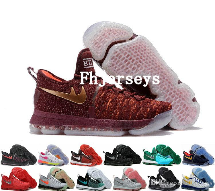 2017 new arrival christmas kd 9 basketball shoes premiere usa olympics kevin durant kd 9s ep ix sneakers for men running shoes size 40 46 sneakers sale