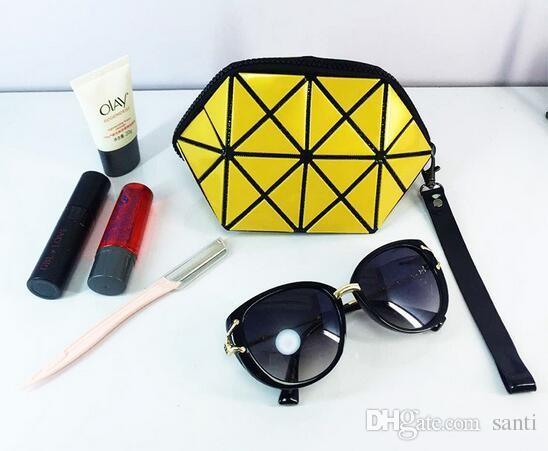 Geometrische Kosmetiktasche Frauen Laser Diamant Makeup Bag Cosmetics Organizer