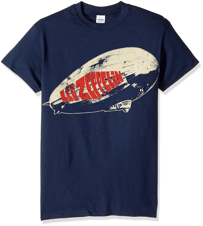 Led Zeppelin Legends Union Jack T Shirt Navy Print T Shirt Summer ...