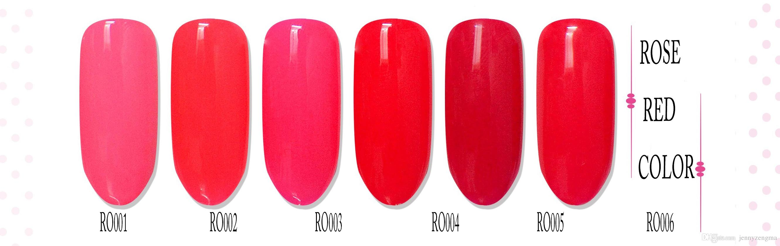 Rose Red Color Nail Art 8ml Woman Beaty Nail Polish Long Lasting ...