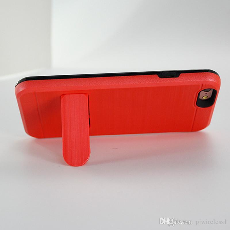 Hybrid Armor Pour iphone X Pour iphone 8 plus Pour samsung galaxy note 8 Alcatel A30 Féroce fente pour carte de crédit metropcs Case C