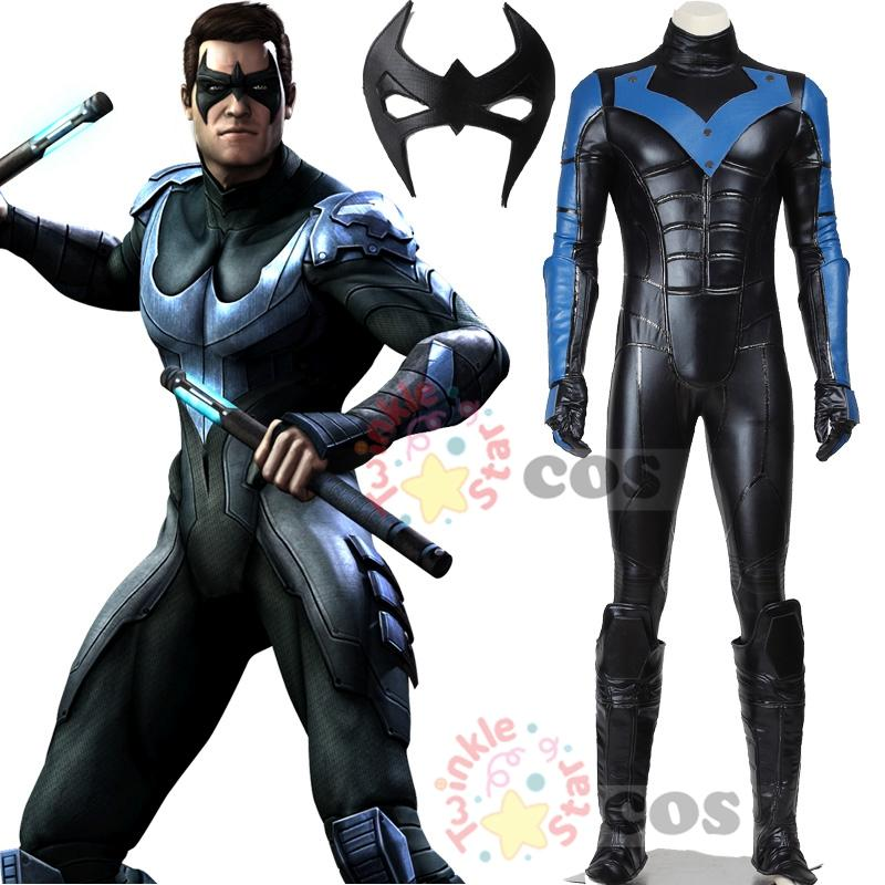 Halloween cosplay Batman costume Arkham City Nightwing Cosplay Costume adult men superhero Batman cosplay custom made  sc 1 st  DHgate.com & Halloween Cosplay Batman Costume Arkham City Nightwing Cosplay ...