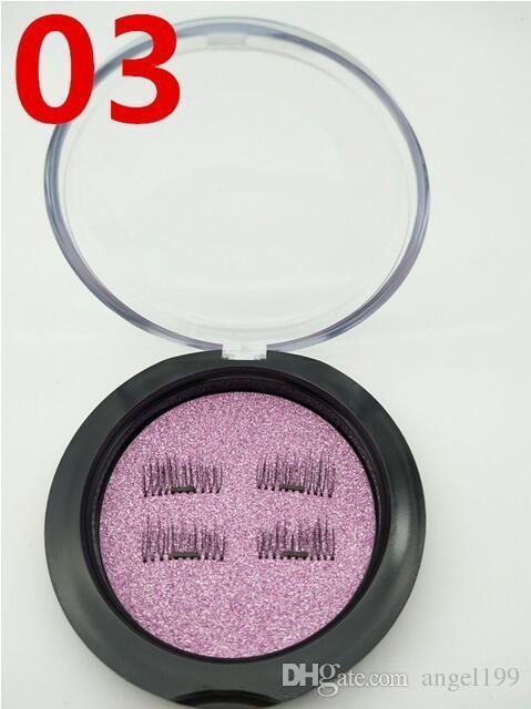 Yaratıcı YENI trend 3D sihirli kullanımlık manyetik kirpikler el yapımı ipek tek mıknatıs sahte kirpikler DHL