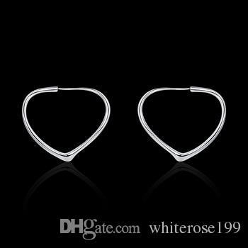 Groothandel - laagste prijs kerstcadeau 925 Sterling zilveren mode oorbellen E028