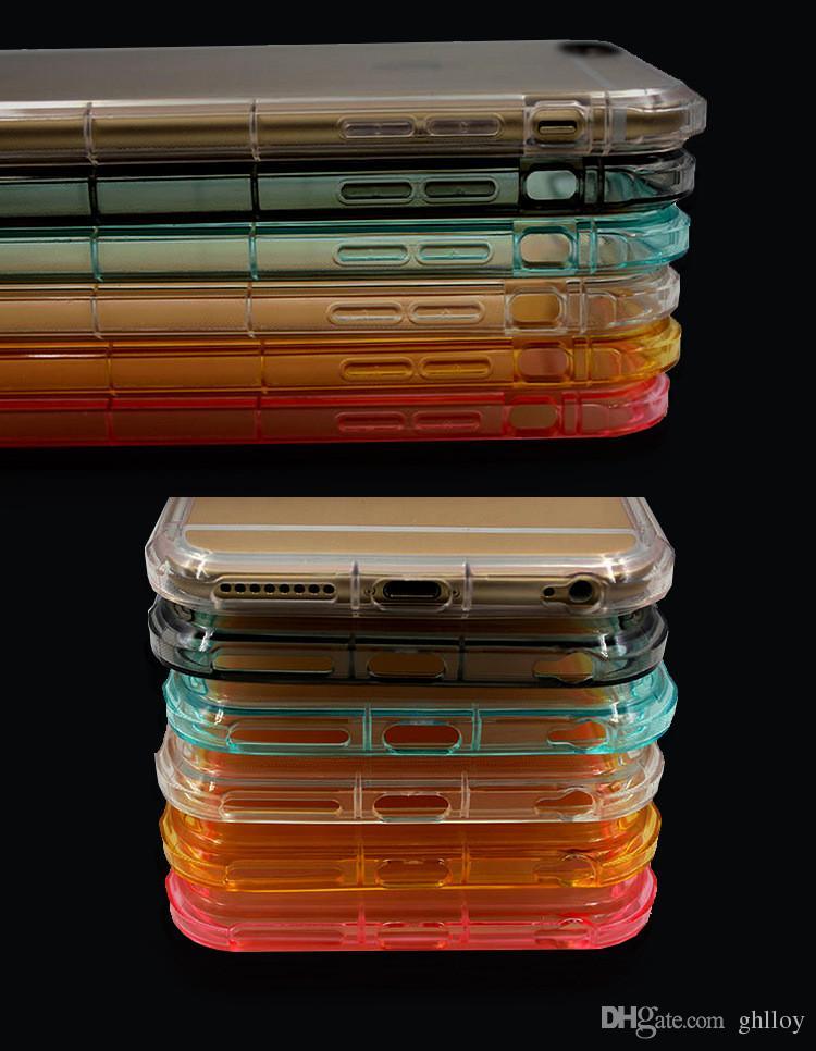 Четыре угла воздушный поплавок защитный чехол противоударный прозрачный чехол для сотового телефона для iphone 7 7 плюс iphone 6 6 плюс
