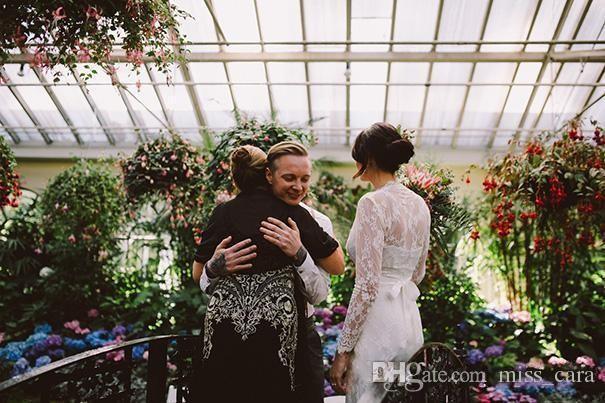 Kate Middleton in Jenny Packham Boho Wedding Dresses with Belt Long Sleeve Elegant V-neck Full Back Lace Country Bridal Gowns 2017