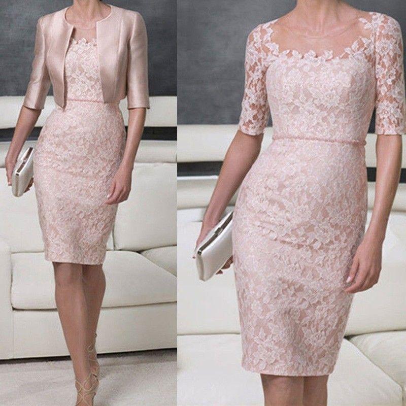 Vintage Scalloped Lace Sheer Neck Women Gowns Vestidos de Gala Lace Mother of the Bride Groom Dresses Belt Waist With Jacket Plus SIZE