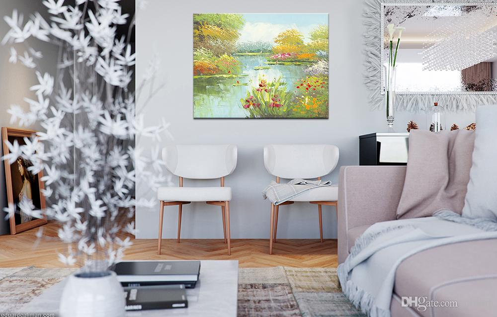 2019 Hd Morden Pictures Wall Pictures Landscape Painting Spray