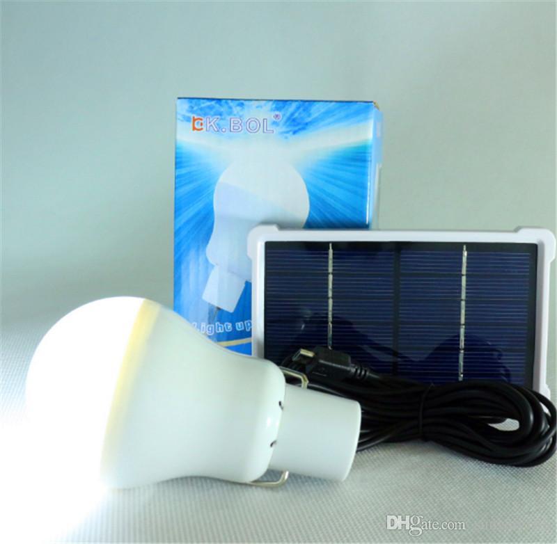 Nouvelle arrivée S-1200 15W 130LM Portable Led ampoule jardin alimenté solaire lumière chargé lampe à énergie solaire de haute qualité livraison gratuite