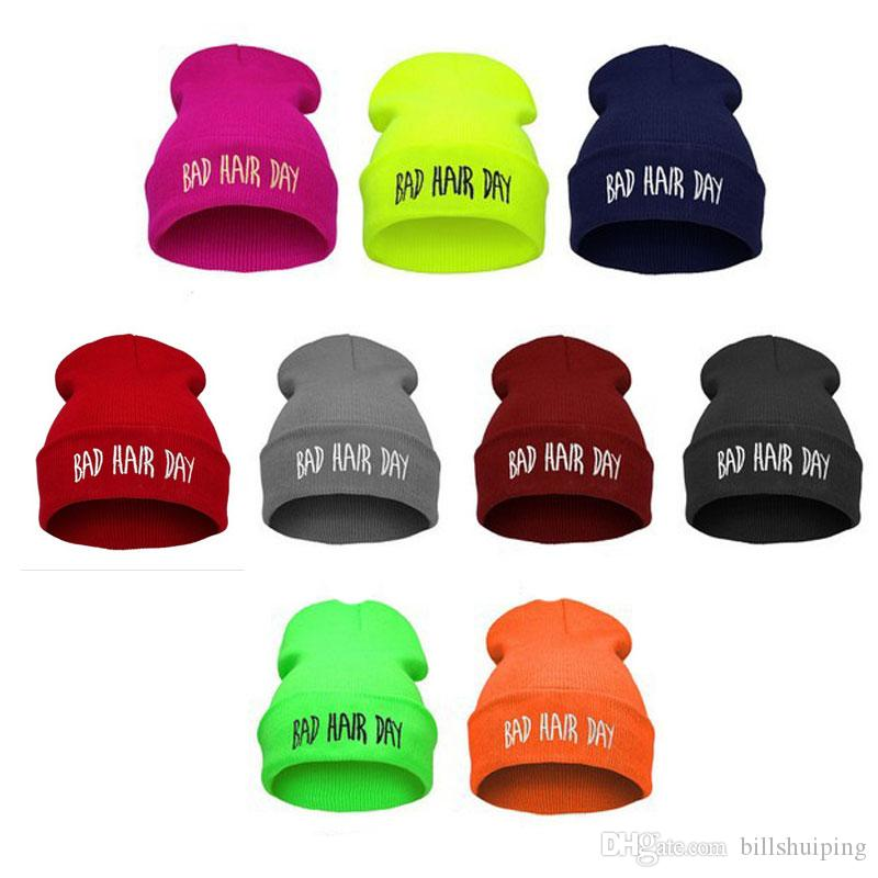 Bad Hair Day Beanie hat Warm Winter hiphop caps Knitted hats for women men Fashion Accessories
