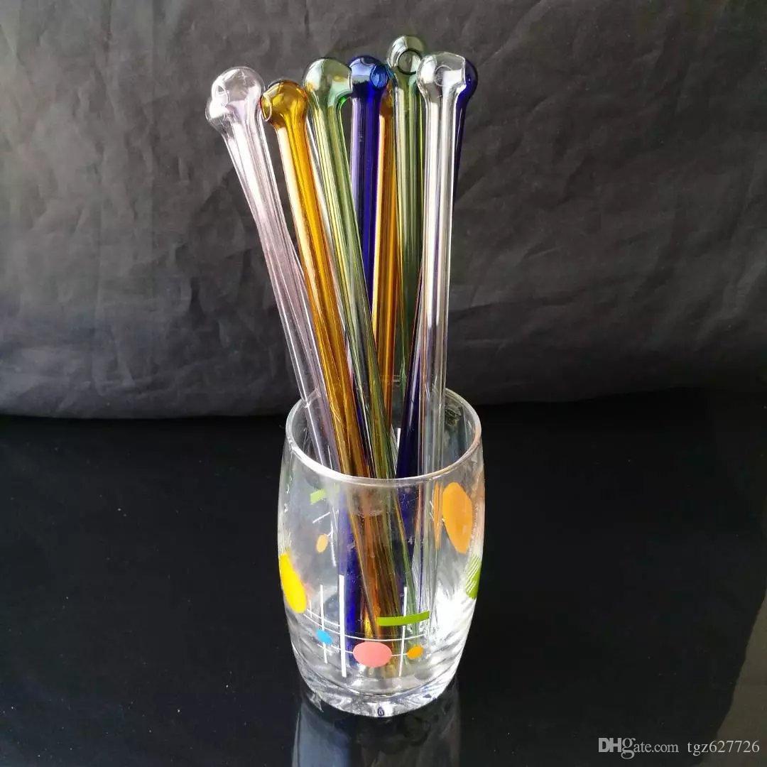 Круглые трубки соломенные бонги аксессуары, стеклянные курительные трубки красочные мини многоцветные ручные трубы Лучшая ложка стеклянные трубы