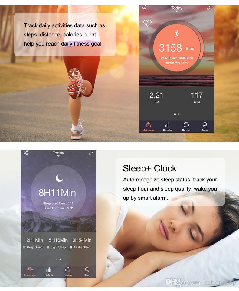 Fitbit ID107 블루투스 심박 측정기 스마트 밴드 팔찌 팔찌 스마트 밴드 피트니스 트래커 스포츠 안드로이드 iOS 스마트 폰용 팔찌