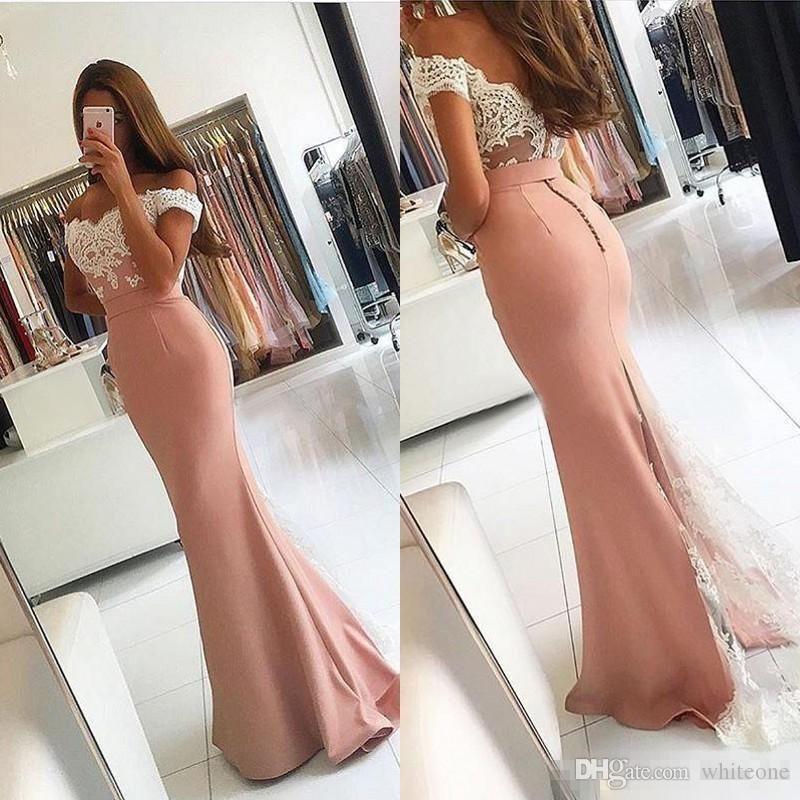 Appliques Evening Dresses Sexy Strapless Backless Prom Gowns Robe De Soiree Mermaid Vestido de Fiesta