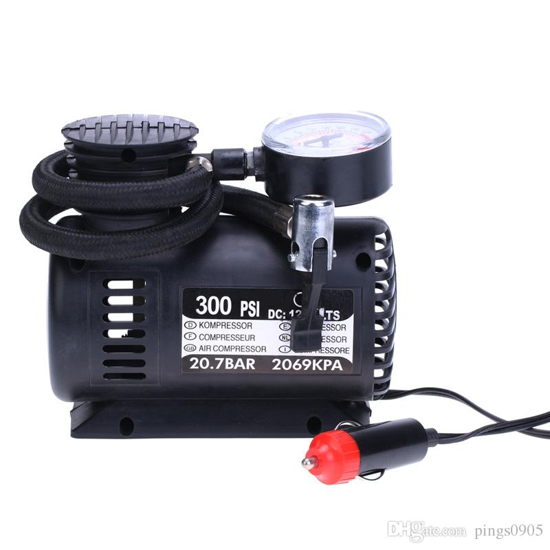 12V300 PSI Car Auto Electric Portable Inflatable Pump Air Compressor Tire Inflator for Car Bicycle Tires Sports Balls Airbeds