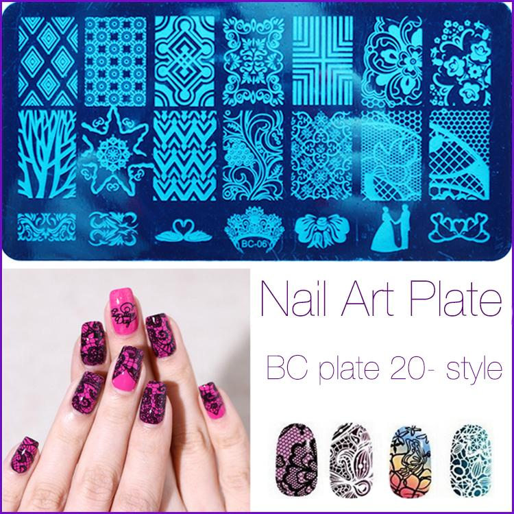 Wholesale Fashion Series Steel Nail Stamp Stamping Image Konad Plate