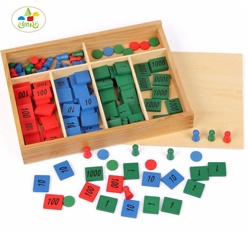2019 Wholesale YLB Montessori EducationalToy ChildrenS Toys For Kids Stamp Game Math Digital Cognition Color Classification Funny Great Gift From