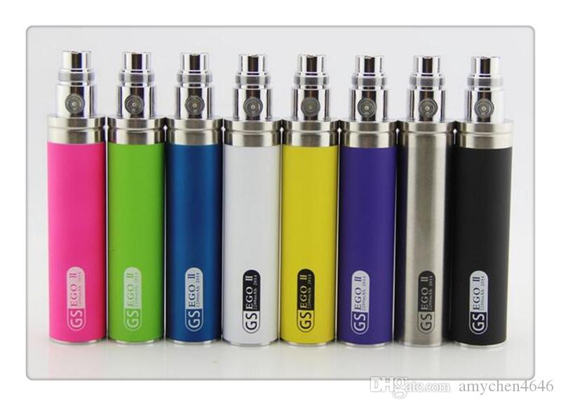 Hot sale GS eGo II Battery 2200mah E Cigarettes Updated EGO Battery For 510 CE4 MT3 Atomizer ecig Battery
