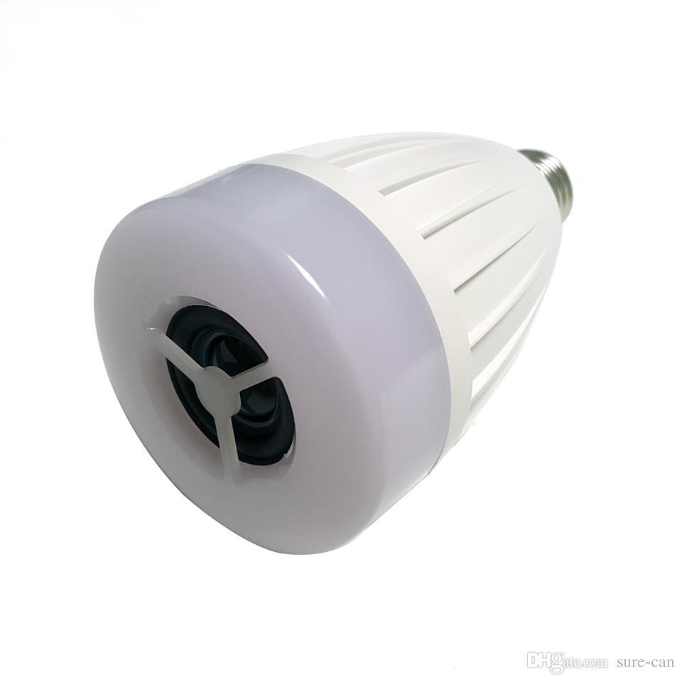 E27 intelligente App Controller RGB Haut-parleur sans fil Bluetooth Bulb Lecture de musique Dimmable LED RGB Musique Ampoule intelligente Lampe