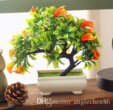 2018 Hot Artificial Plants Bonsai For Ornaments Home Decor Artificial  Plastic Trees Artificial Flowers For Decoration Living Room Mini Bonsai  From ...