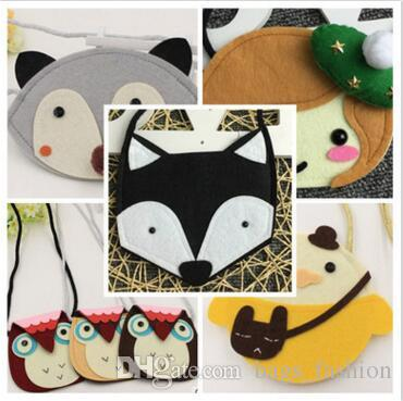 Bags Purses for Baby Girl Fox Cat Coin Top Quality Children Accessories Animal Purses Cartoon Cross Body Coin Kids Purse