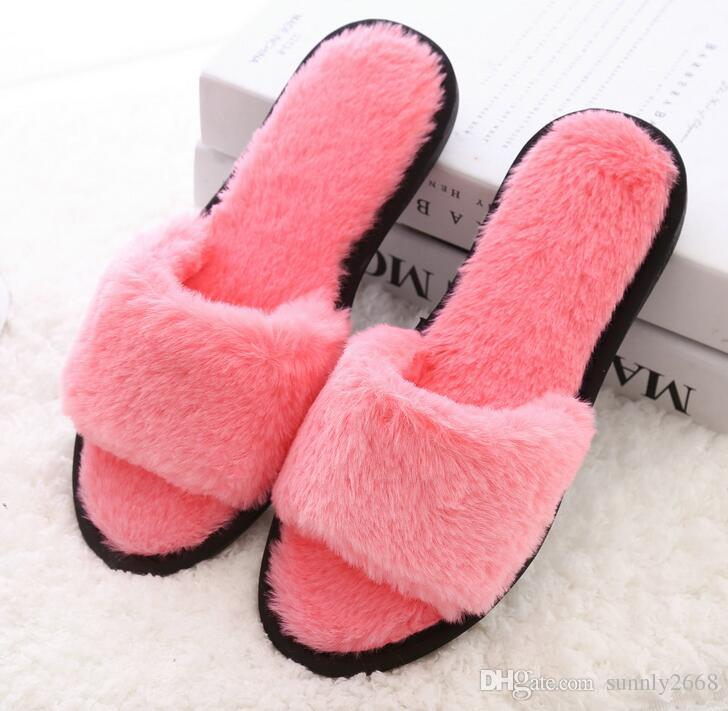ef7e42ee7ce Winter House Slippers Women Fashion Pantufa Casual Indoor Home Shoes ...