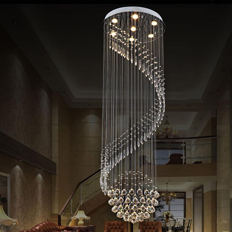Bright Crystal Flushmount Chandeliers Modern Ceiling Lamps Lighting K9 Pendant Lamp Suspensions Hanging