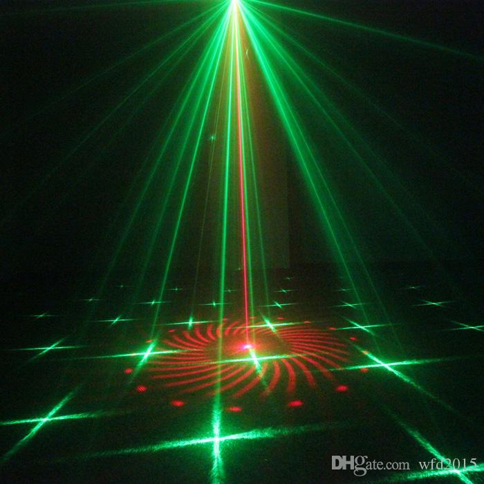 Mini 3Len 24 RG Patterns Laser Projector Stage Equipment Light 3W Blue LED Mixing Effect DJ KTV Show Holiday Laser Stage Lighting L24RG