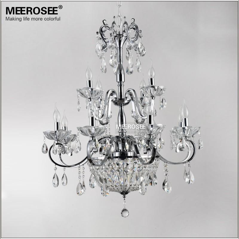 Wrought Iron Crystal Chandelier Light Fixture 2 Tiers 12 E14 Or E12 Lights Re Lamp Lighting