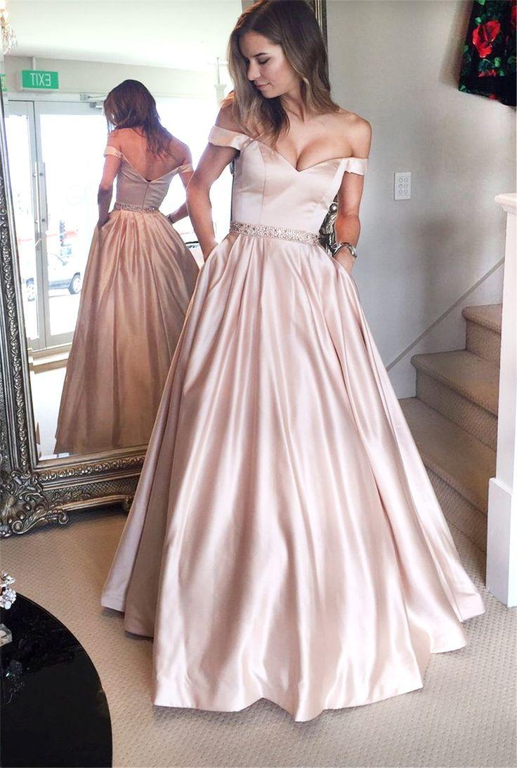 Großhandel Stilvolle Schulterfrei Erröten Lange Brautkleider Perlen ...