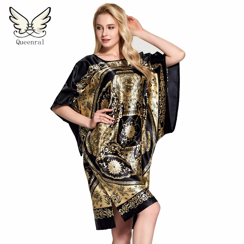 f0b68e3bb6 Wholesale- Robe Summer Floral Robe Women Sleepwear Nightwear Home ...