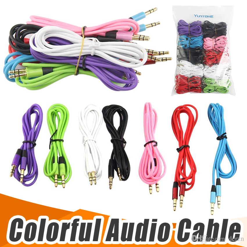 2018 Auxiliary Cable 3.5mm Male To Male Aux Audio Cable 1.2m Stereo ...