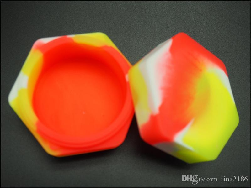 la migliore vendita di contenitori in silicone uso alimentare Cina produttore 26ml contenitore antiaderente silcone vasi dab 57mmX30mm vasi di silicone bho