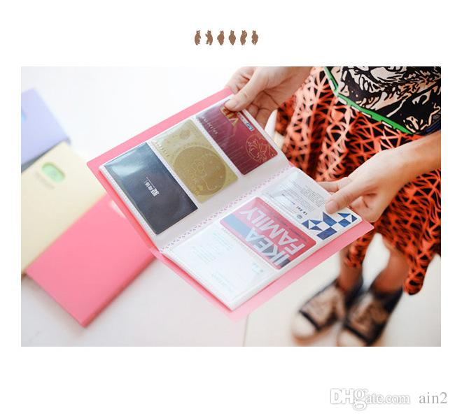 120 pockets big capacity name card holder colorful pp material card 120 pockets big capacity name card holder colorful pp material card pouch organizer wallet leaflet brochure booklet card holder business handbags from ain2 colourmoves