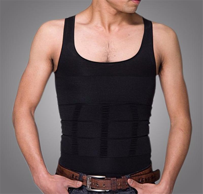 Erkekler Vücut Şekillendirme Şekillendirici Yelek Asansör Kilo Kaybı Gömlek Sıkıştırma Kas Tankı Shapewear Iç Çamaşırı Erkekler Için Seksi ...