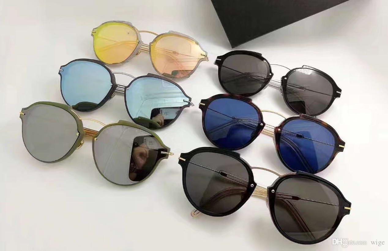 Las mujeres Eclat / s Havana Gold / Blue Gafas de sol Designer Luxury Vintage Fashion Gafas de sol Eye Wear Brand New con estuche