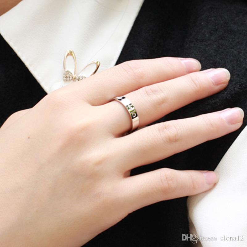 FOREVER LOVE пара колец из нержавеющей стали титана кольцо для мужчин, женщин, любовника, ювелирные изделия высокого качества 2015 бесплатный epacket 080001
