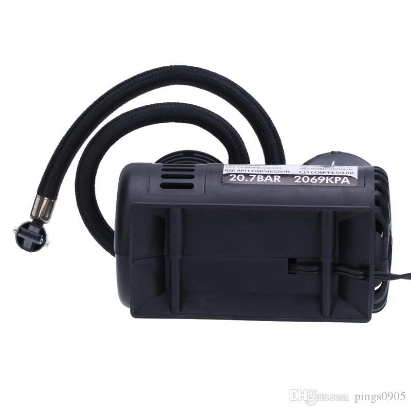 Gonfiatore gonfiabile portatile elettrico automatico della pompa del compressore d'aria della pompa dell'automobile 12V300 PSI le gomme della bicicletta dell'automobile Palloni sportivi Palloni gonfiabili