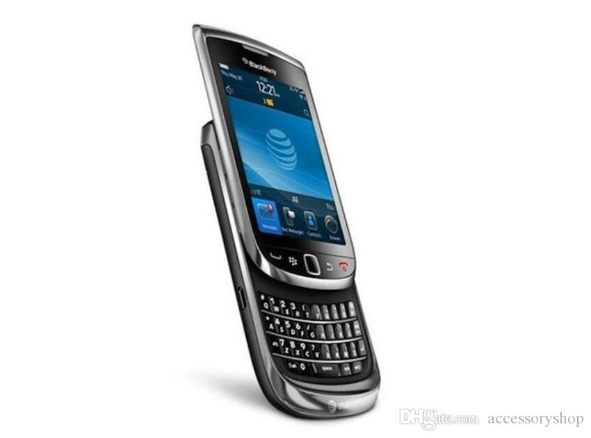 Refurbished Original Blackberry Torch 9800 3G Slide Phone 3.2 inch Touch Screen + QWERTY Keyboard 5MP Camera Unlocked Mobile Phone Post