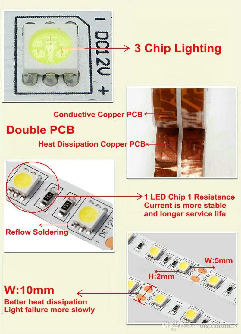 5 meter LED Strip Licht Warm Wit 5 M 5050 SMD Super Bright High Power Waterdicht Flexibel 300 LED Blauw Warm Cool White Red