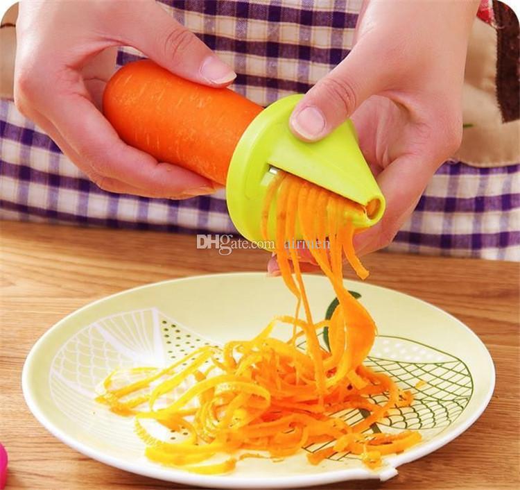 YENI Sebze Parçalamak Cihaz Mutfak Aletleri adget Huni Modeli Spiral Dilimleme Pişirme Salata Havuç Turp Kesici