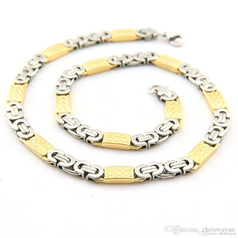 Braccialetto d'argento stabilito della catena dell'acciaio inossidabile della catena a maglie d'argento piana d'argento d'annata gli uomini NB256