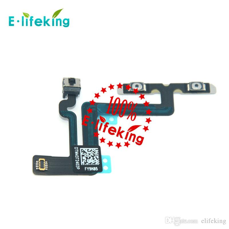 Volume Control Button Mute Flex Cable Ribbon Replacement For Iphone 6 4.7 and 6 Plus 5.5 Free Shipping