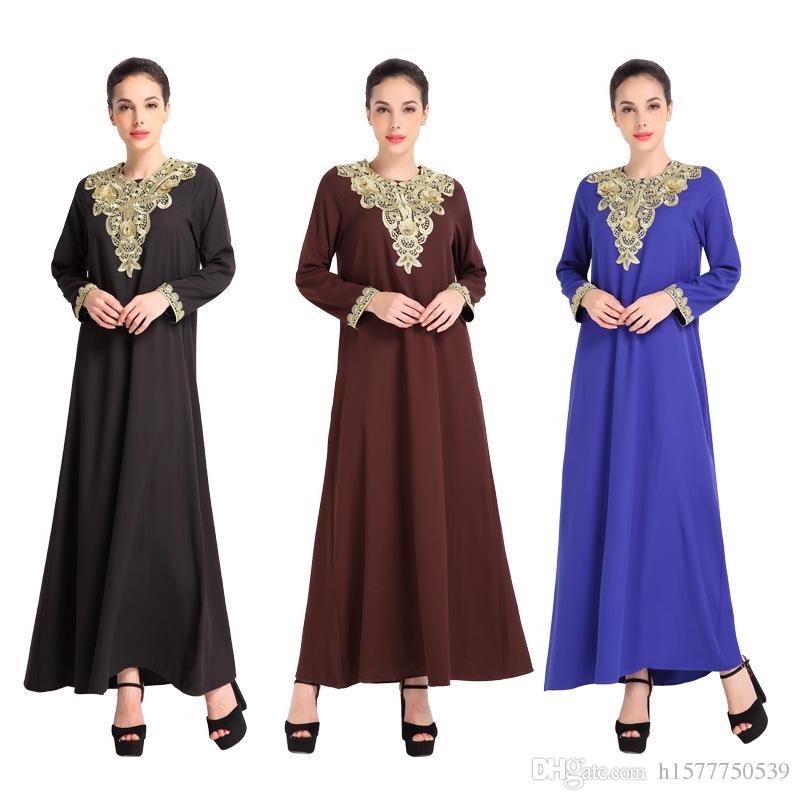 Acheter Vente Chaude Malaisie Turc Abaya Vêtements Turquie Musulman Femmes  Robe De Broderie Photos Abayas Islamique Robes Robe Turc Musulman Dubaï  Caftan De ... 0426577b11f