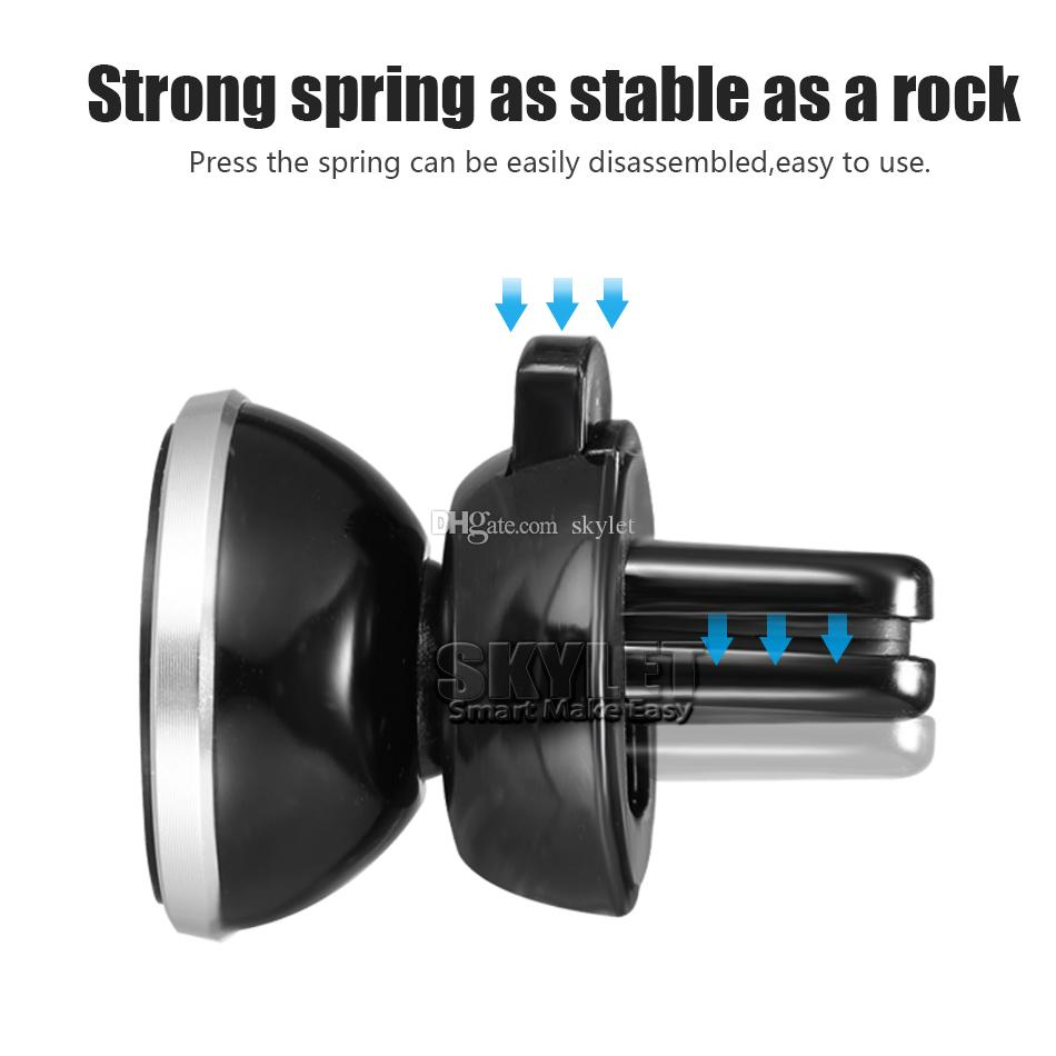 Strong Magnetic Car Holder Air Vent Mount 360 Degree Rotation Universal Phone Holder for Universal Cellphones with Retail Box