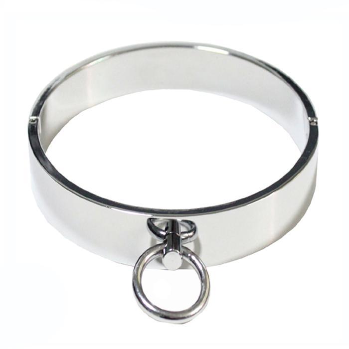 Bondage neck collars silver images 413
