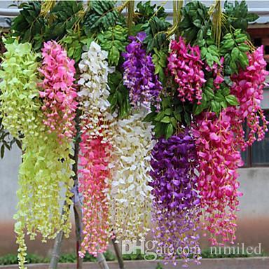 3 forcelle fiore artificiale glicine