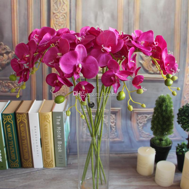Flower Decorations For Home: Artifical Moth Butterfly Orchid Flower Phalaenopsis