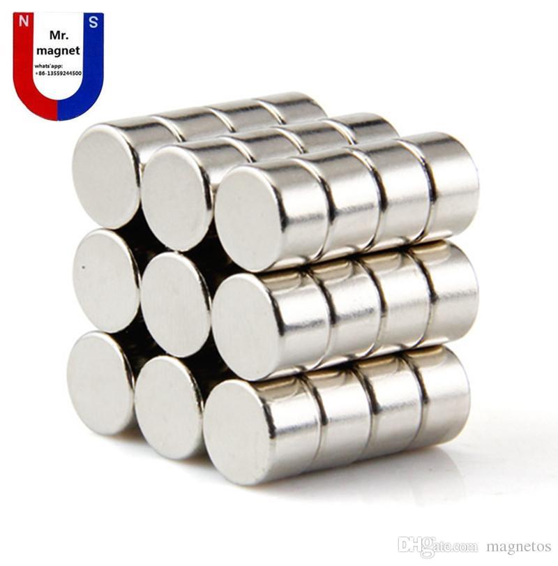 Hot vente 12 * 8 * 8 mm D12 12x8 D12x8mm 12 * 8 mm 12x8mm 12mm * 8 mm rare aimants néodyme terre de qualité NdFeB N35 avec Ni revêtement Livraison gratuite